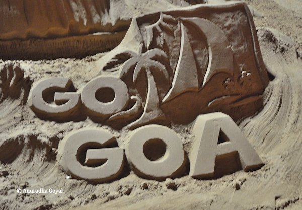Go Goa logo in the sand