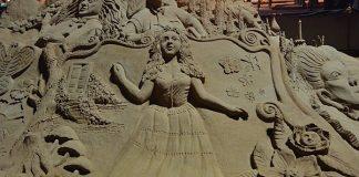 Sand Alice in her wonderland at Miramar Beach