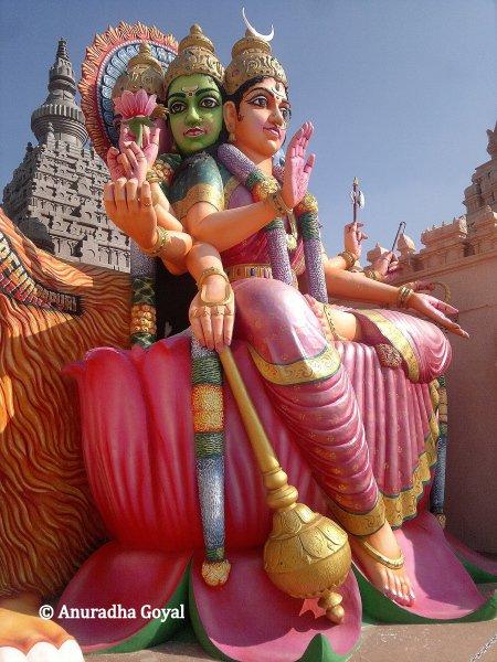 Giant statue of Goddess at Surendrapuri Mythology Museum