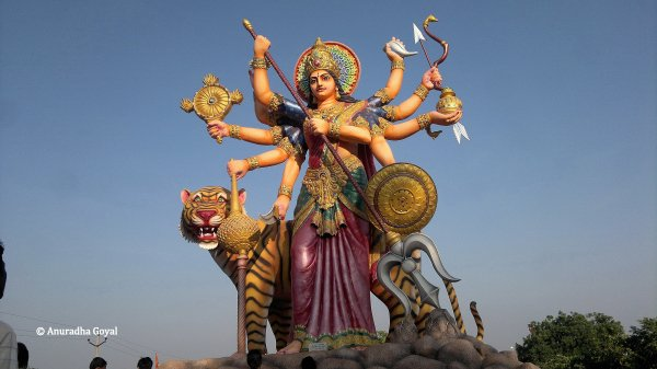 Goddess Durga Statue at Surendrapuri Mythology Museum