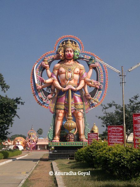 Giant Hanuman statue at Surendrapuri Mythology Museum