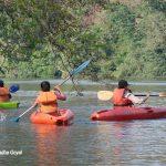 Kayaking water sports at Dandeli over Kali river