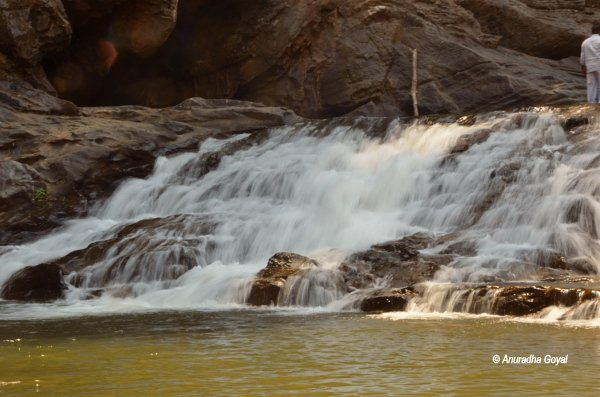Mini milky waterfalls of Kaneri river at the base