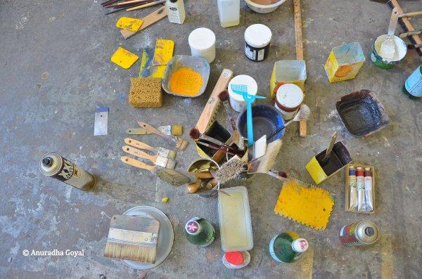 Spinnerei Leipzig - Painting tools