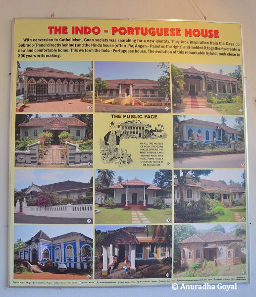 A collage of Indo-Portuguese Houses in Goa