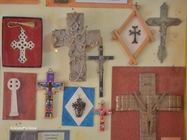 Collection of Cross on display at Bigfoot Cross Museum