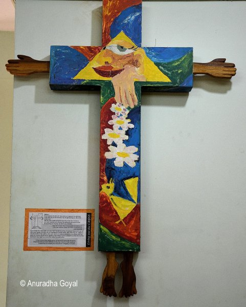 Colorful Cross at Bigfoot Cross Museum