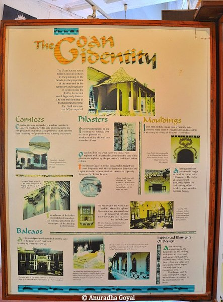 A board explaining the Goan Architectural Heritage