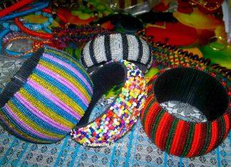 Microbeads Jewelry Bangles and Bracelets from Jhabua
