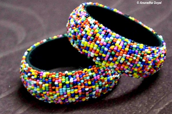 Multicolored Microbeads Bracelets
