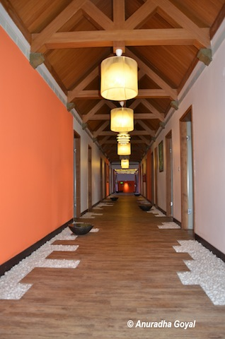 Corridors of the Spa in Kollam