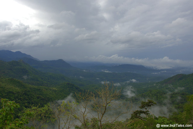 Dark clouds hovering over the western ghats at Ponmudi