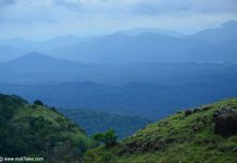 Layers of mountains view from the Ponmudi Hill Station
