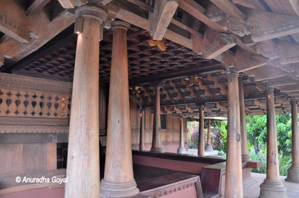 Original traditional Travancore wooden cottage at Ayurvedic Resort