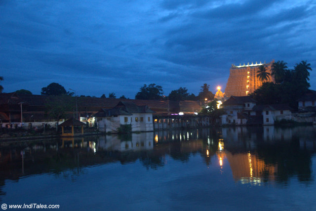 Padmanabhaswamy Temple landscape view at Thiruvananthapuram