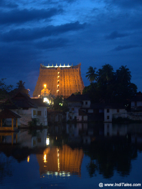Padmanabhaswamy Temple & the reflection