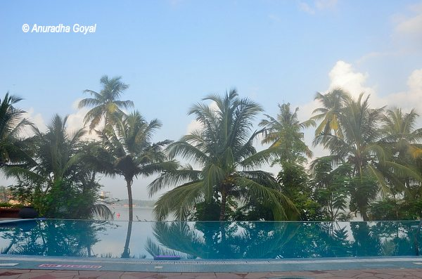 Saras Pool: An infinity pool at ITC's Raviz Ayurvedic Resort & Spa at Kollam
