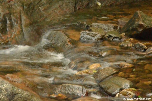 A stream en route