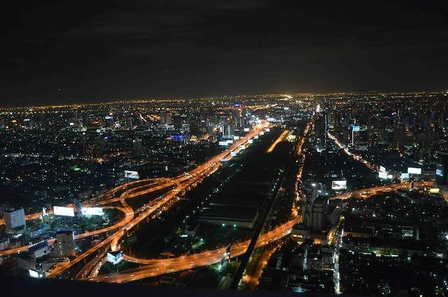 Bangkok at night from the 84th floor - Thailand Travel