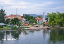 Buddhist Temple on Banks of River Kwai, Kanchanaburi