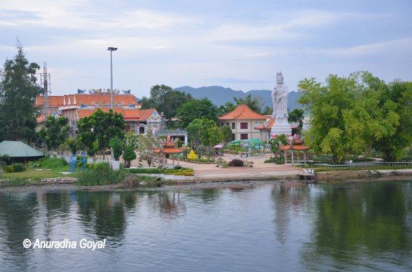 Buddhist Temple on Banks of River Kwai, Kanchanaburi
