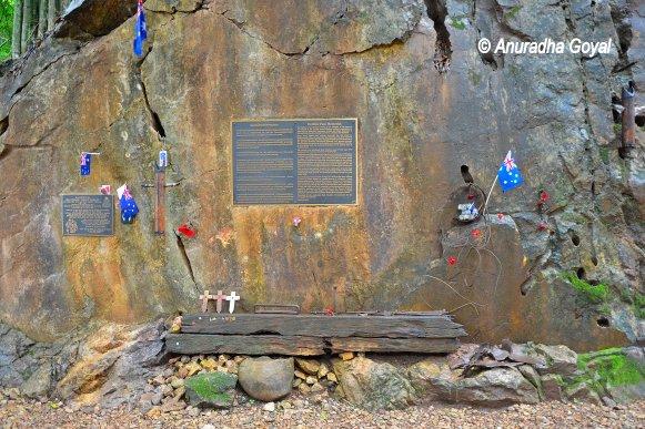Memorials near Hellfire Pass Memorial