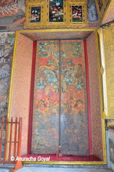 Painted Door at Temple of Reclining Buddha