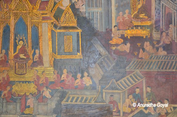 Paintings depicting Life of Buddha at Wat Pho, Bangkok