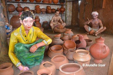 Showcasing Pottery skills at Bigfoot Museum, Goa