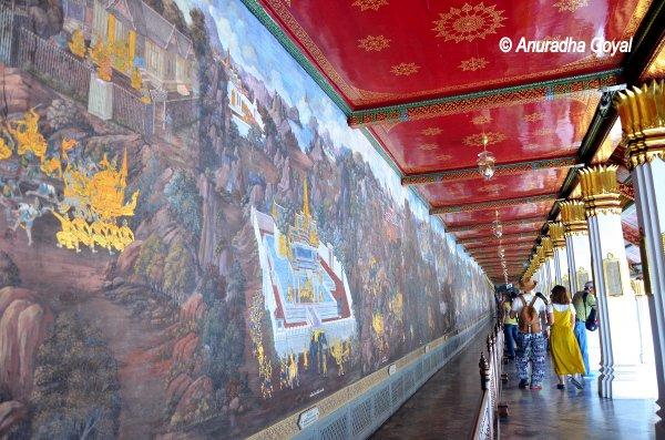 Ramayana Paintings at the Grand Palace, Bangkok