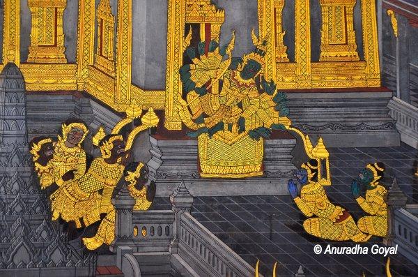 Ravana in his golden court