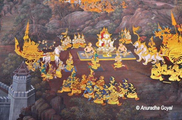 A scene from Rameshwara on Rama's return from Lanka