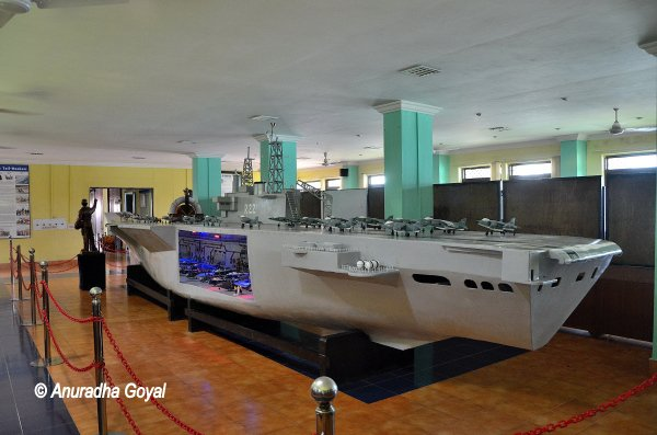 Ship model at Naval Aviation Museum, Goa