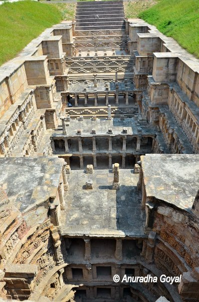 Top view from the stepwell side