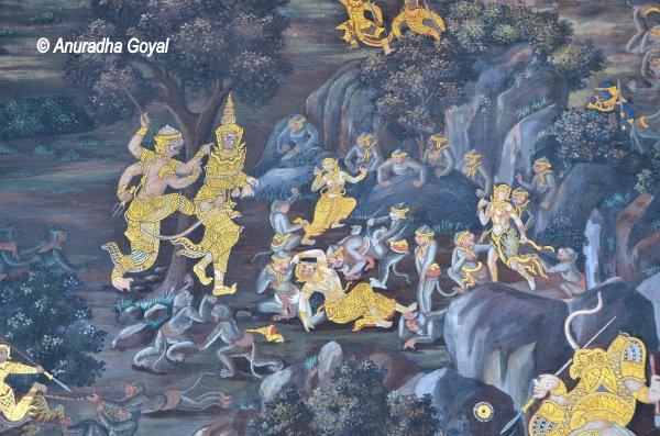 Vanar Sena or the army of monkeys fighting the army of Ravana