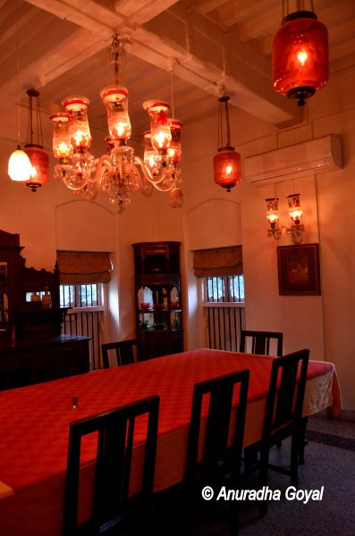 Dining Hall at Divan's Bungalow Ahmedabad