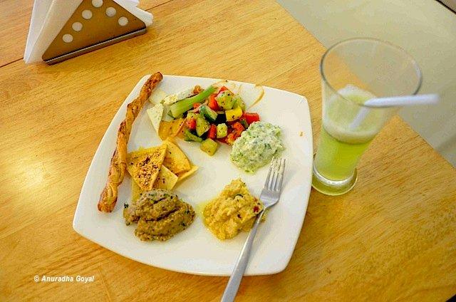 Mediterranean platter at Baker's Studio