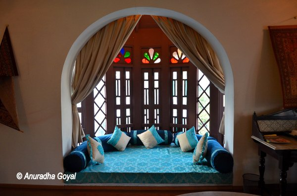 A typical window at the heritage Divans Bungalow Ahmedabad