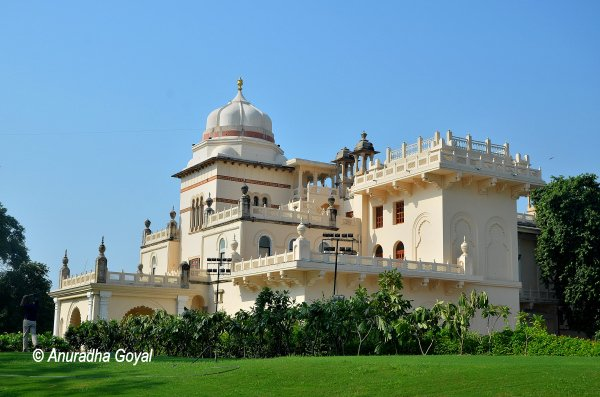 A palatial structure in Laxmi Vilas Palace complex