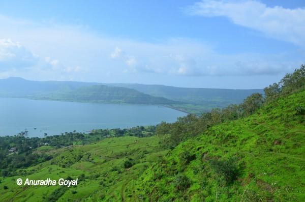 View of the lake supplying water to Satara, Maharashtra