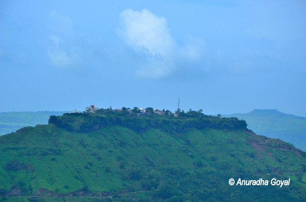 View of Sajjangad fort