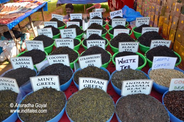 Flavored Tea powder at Anjuna Flea Market, Goa