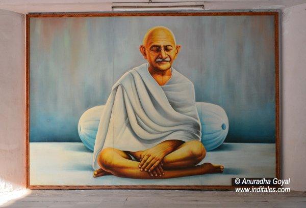 Mahatma Gandhi's portrait