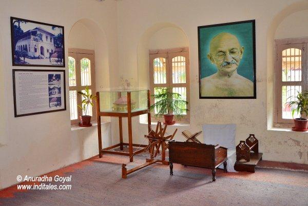Mahatma Gandhi's room at Satyagraha Ashram