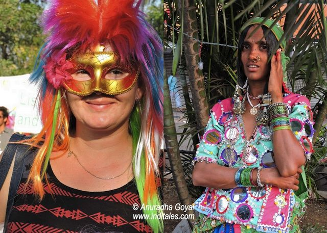 Different shades of the same color at Goa Viva Carnival