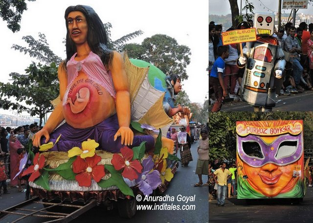 Goa Viva Carnival Theme Floats