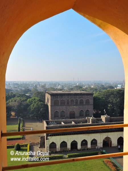 Landscape view from atop a Minar