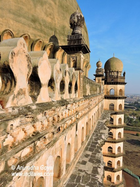 7 story Minar and the staircase of Gol Gumbaz, Bijapur