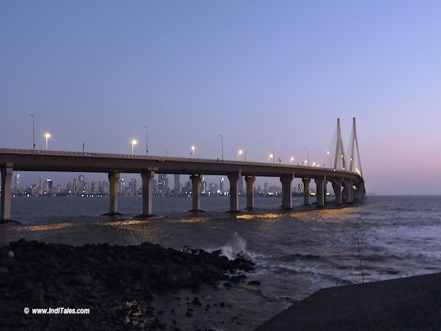 Bandra Worli Sea Link at Dusk