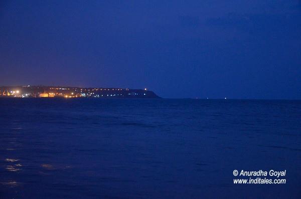 Lights of Vasco Goa in the evening